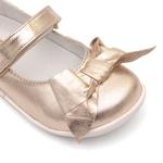 Sapato Metalizado Ouro Light Laço