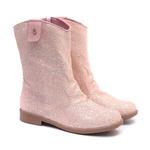 Bota de Glitter Rosa Infantil Gats