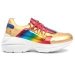 Tênis Sneaker Dourado Feminino Infantil Gats