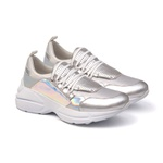 Tênis Sneaker Cristal Prata