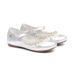 Sapato Feminino Bordado Metalizado Prata Gats