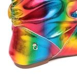 Bota Colorida Arco-Íris Listado Gats