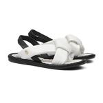 Sandália de Laço Branco Infantil Gats