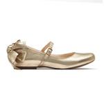Sapato Dourado Metalizado Infantil Gats