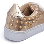 Tênis Spike Infantil Feminino Dourado Gats