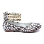 Sapato Bordado de tornozeleiras Animal Print Infantil Gats