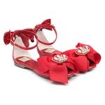 Peep Toe de Laço Feminino Vermelha Infantil Gats