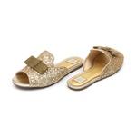 Slide Glitter Dourado