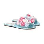 Slide Flores Azul Cristal