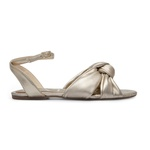 Sandália Rasteira Laço Dourado