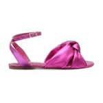 Sandália Rasteira Laço Pink