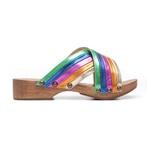 Tamanco Madeira Arco-íris