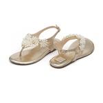 Sandália Bordada Dourada