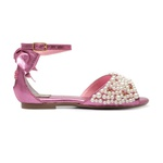 Peep Toe Bordado Rosa