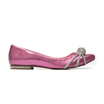 Sapatilha Bico Fino Glam Rosa Cristal