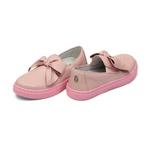 Tênis Slip On Laço Rosa Infantil Gats