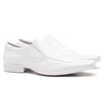 Sapato Social Gofer Em Couro Confort Branco - 0261PU