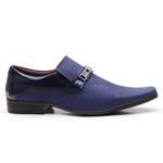 Sapato Social Gofer Em Couro Blob Gota E Verniz Dark Blue Exclusivo - 0556PU