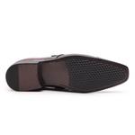 Sapato Social Gofer Em Couro Verniz Dark Red com Detalhes em Colmeia Preto - 0701APU