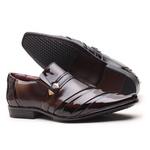 Sapato Social Gofer Em Couro Verniz Negresco Com Detalhes Estampados - 0841APU