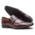Sapato Social Gofer Em Couro Verniz Negresco com Detalhes Estampados Detroid - 0871APU