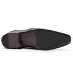 Sapato Social Gofer Em Couro Mestiço E Box Com Detalhes Estampados - 0931PU-PE