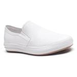 Sapatênis Gofer Couro Comfort Branco com detalhes estampados 28003-CA