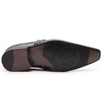 Sapato Social Gofer em Couro Verniz Preto com Detalhes Estampados Exclusivos - 17288APU