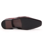 Sapato Social Gofer em Couro Blob Vermelho e Verniz Dark Red com Detalhes Exclusivos- 0841APU-PE