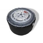 Pufe roda de carro- puff de enchimento