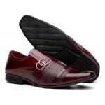 Sapato Social Masculino Verniz Vinho