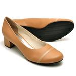 Sapato Peep Toe Feminino Bege