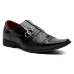 Sapato Social Masculino Com Carteira Verniz Preto