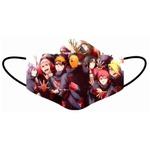 Kit 4 Máscara Lavável Personalizada Naruto Akatsuki Tecido Duplo