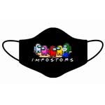 Kit 4 Máscara Lavável Personalizada Among Us Impostor Tecido Duplo