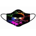 Kit 4 Máscara Lavável Personalizada Caveiras 1 Tecido Duplo