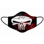 Kit 4 Máscara Lavável Personalizada Caveiras 2 Tecido Duplo