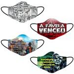 Kit 4 Máscara Lavável Personalizada Estampa Favela Tecido Duplo