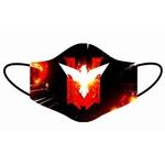 Kit 4 Máscara Lavável Personalizada Free Fire Tecido Duplo