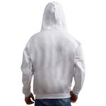 Moletom Masculino Bolso Canguru Com Capuz Branco