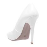 Sapato Feminino Scarpin Verniz Branco