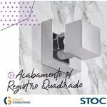 ACABAMENTO P/ REGISTRO QUADRADO METAL CROMADO 1/2 3/4 1 STOC METAIS