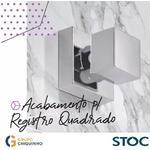 ACABAMENTO P/ REGISTRO QUADRADO METAL CROMADO 1 1/4, 1 1/2 , 1 STOC METAIS