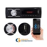 APARELHO DE SOM AUTO RADIO MP3 SD USB FM AUX COM BLUETOOTH (SEM CONTROLE)