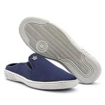 Mule Casual Masculino Calce Fácil Azul Sola Costurada 571-db