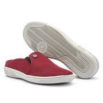 Mule Casual Masculino Calce Fácil Vermelho Sola Costurada 571-db