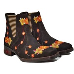 Bota Country Florida Feminina Botina Bordada Texana