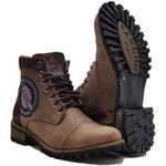 Bota Casual Masculina Em Couro 787 Boots Coturno