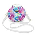 Bolsa Redonda Feminina Lisa Couro Eco Mini Bag Transversal Tie Dye