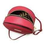 Bolsa Redonda Feminina Lisa Couro Eco Mini Bag Transversal Vermelha